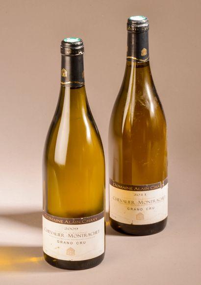 2 bouteilles CHEVALIER-MONTRACHET, A. Chavy...