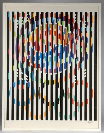 Yaacov AGAM (né en 1928). Sans titre. Lithographie...