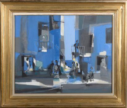 *Marcel MOULY (1918-2008). Village en bord...