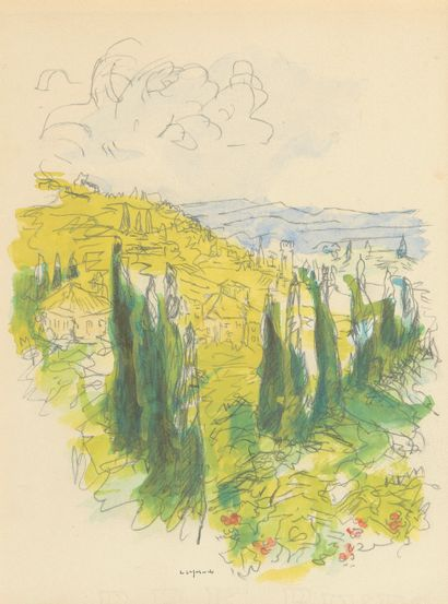 Pierre LAPRADE (1875-1932). Paysage aux...