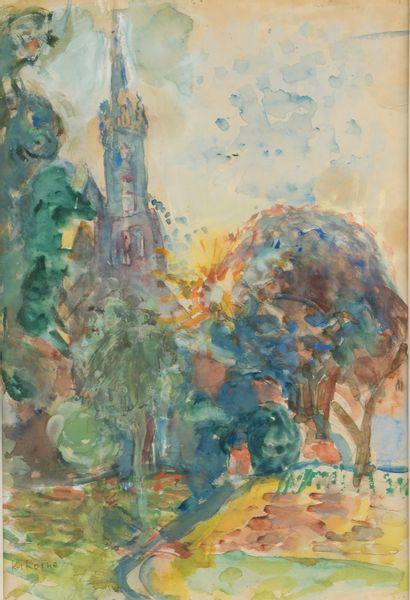Michel KIKOINE (1892-1968). Le clocher....
