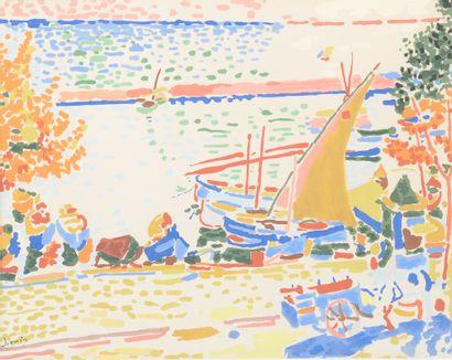 D'après André DERAIN (1880-1954). Paysage...