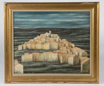 Jean-Pierre CAPRON (1921-1991). Village...