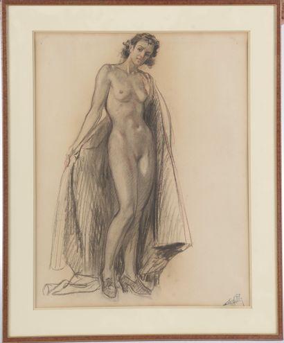 Alméry LOBEL-RICHE (1880-1950). Femme nue...