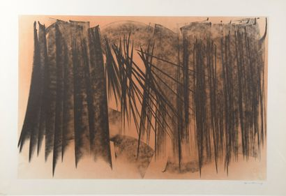 Hans HARTUNG (1904-1989). Farandole. Lithographie...