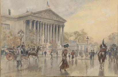 Georges STEIN (1870-1955). Place de la Madeleine...