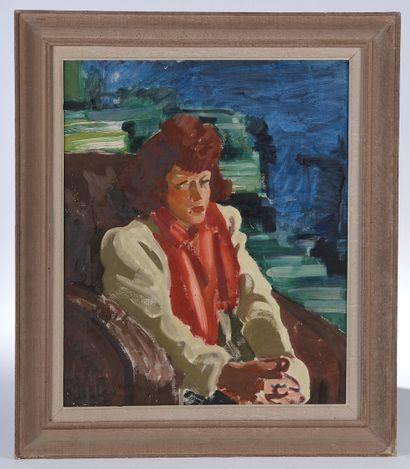 Antoine DE ROUX (1901-1986). Femme assise....