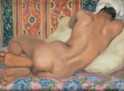 Marcel VICAIRE (1893-1976). Nu allongé....