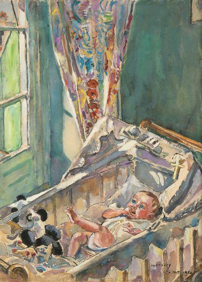 Pierre MATOSSY (1891-1969). Bébé dans son...