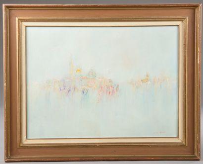 Jacques CORDIER (1937-1975). Paysage. Huile...