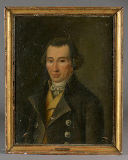 École française vers 1840. Portrait de jeune...