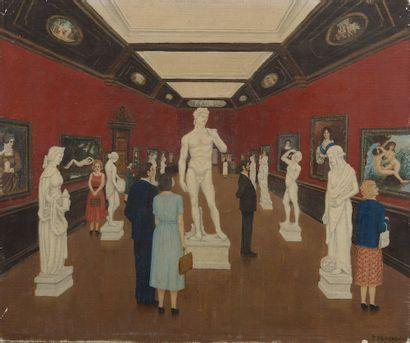 P. BEUCHERE (XXe siècle). La galerie de sculptures....