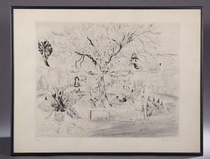 Emilio GRAU-SALA (1911-1975). Le jardin....