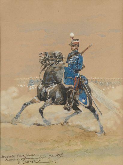 Édouard DETAILLE (Paris, 1848 - 1912). Soldat...