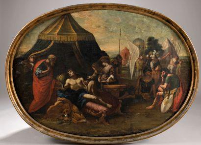 École romaine vers 1680-1700. Scène de l'Histoire...
