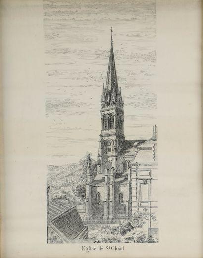 C. GOUPILLON. « Église de Saint-Cloud, le...