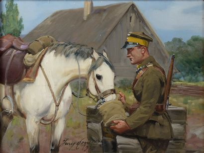 Jerzy KOSSAK (Cracovie, 1886 - 1955). Militaire...