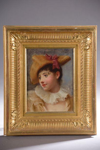 Gustave-Jean JACQUET (1846-1909).  Portrait...