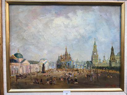 Vladimir POUSSOVSKY (né en 1951).  La place...