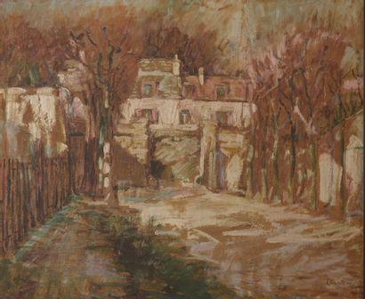 Raphaël CHANTEROU (XIXe-XXe siècle).  L'allée...