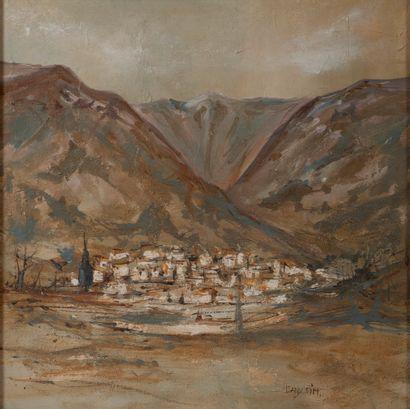 Dany SIM (XXe siècle).  Village au pied des...