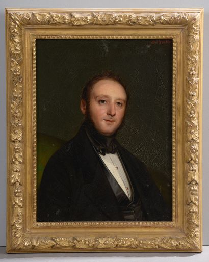 *Jean-Marie Nicolas BRALLE (1785-1863).  Portrait...