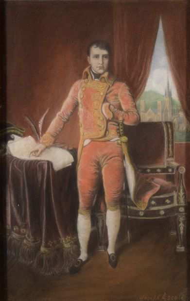 Joseph ASCOLI (XIXe-XXe siècle).  Portrait...