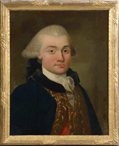 *École de la fin du XVIIIe siècle.  Portrait...
