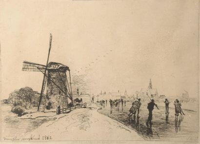 D'après Johan Barthold JONGKIND (1819-1891)....