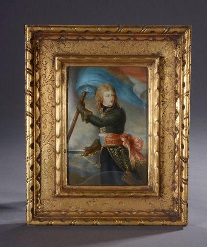 A.J. GROHS (XIXe siècle).  Portrait de Napoléon...