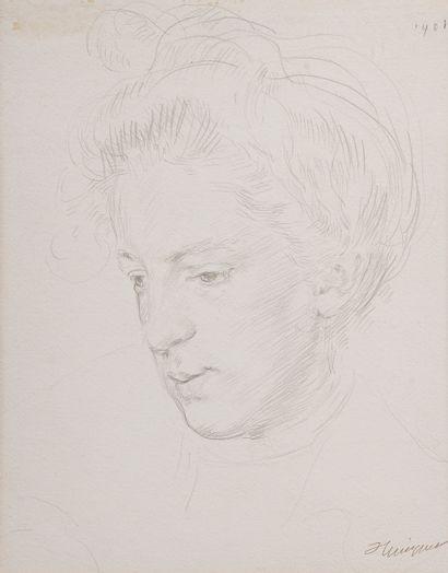 François Joseph GUIGUET (1860-1937).  Portrait...