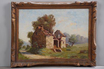 *Jules SAINT-SAËNS (1875-1969).  Maison en...