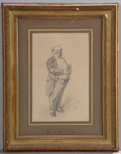 *Henry Bonaventure MONIER (1805-1877).  Portrait...