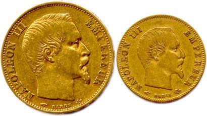 NAPOLEON III 1852-1870  Lot de deux monnaies...