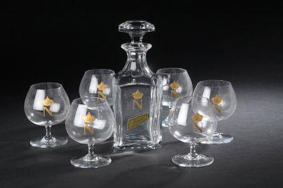 BACCARAT.  Suite de six verres à cognac modèle...