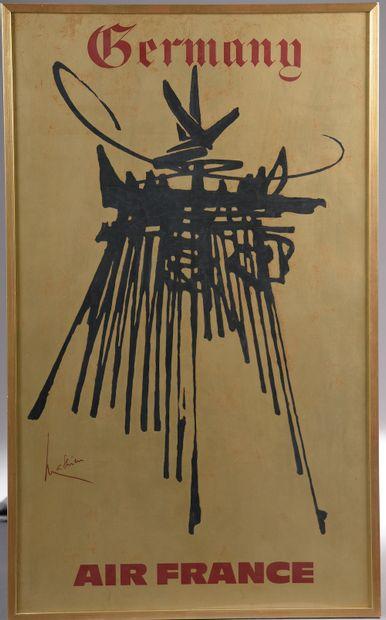 D'après Georges MATHIEU (1921-2012).  Air...