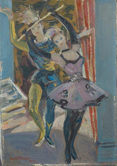 André PLANSON (1898-1981).  Ballet.  Huile...