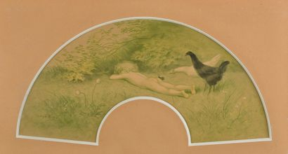 Georges REDON (1869-1943).      La sieste....