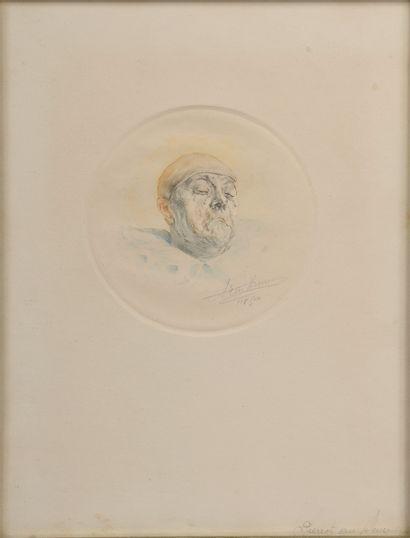 Armand HENRION (1875-1958).  Pierrot triste....