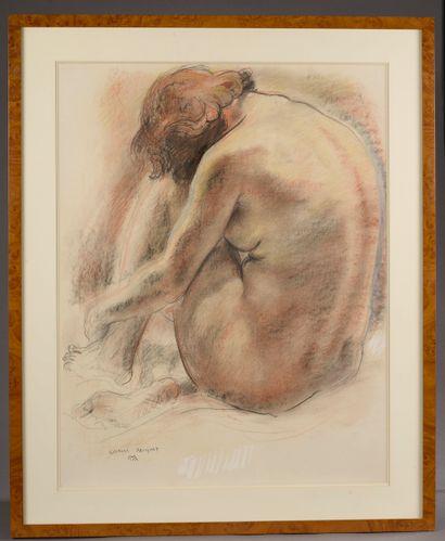 Georges MUGUET (1903-1988).  Étude de femme...
