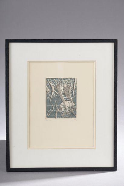 Henri GOETZ (1909-1989).  Composition.  Estampe...