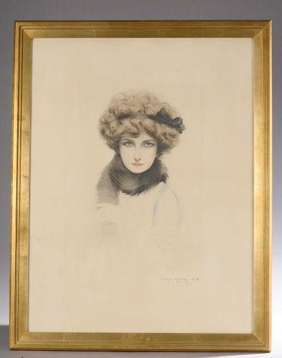 Maurice MILLIÈRE (1871-1946).  Portrait d'une...