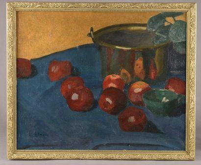 Emile Henry TILMANS (1888 - 1960).  Nature-morte...