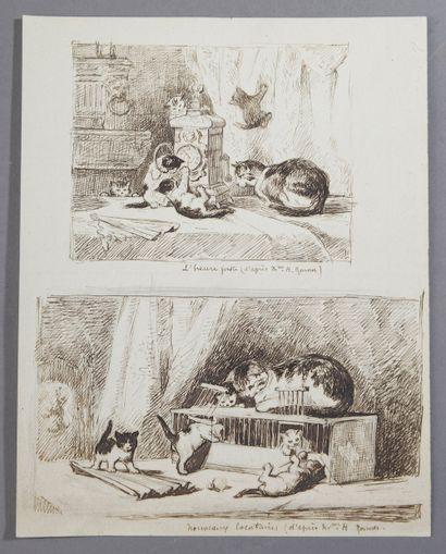 D'après Henriette RONNER (1821-1909).