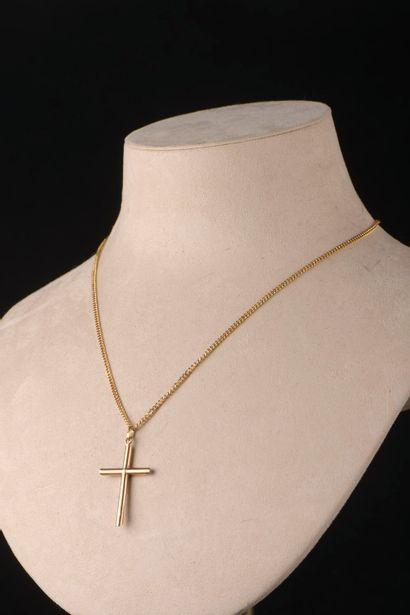 Collier en or jaune 18k composé d'une chaîne...