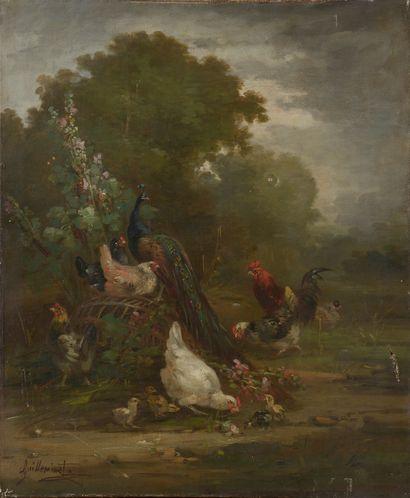 Claude GUILLEMINET (1821-1866).  La basse-cour....