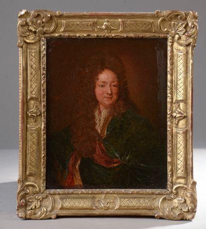 D'après Hyacinthe RIGAUD.  Portrait d'homme...