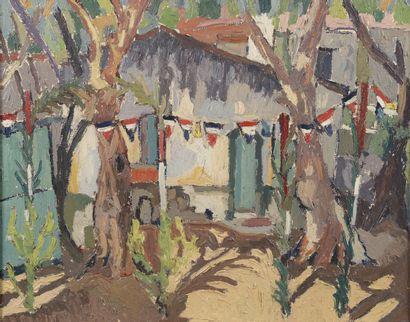 Pierre TROFIMOFF (1925-1996).  Place de village...