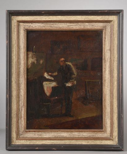 Ecole française du XIXe siècle.  L'amateur...