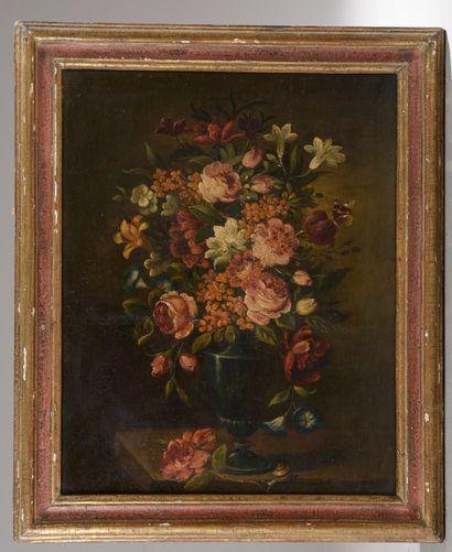 École du XIXe siècle.  Bouquet de fleurs...